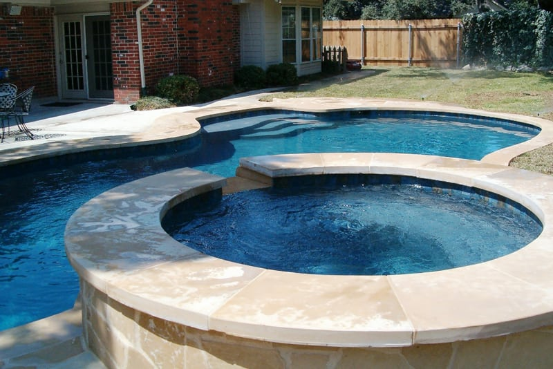 the best natural stone materials to use on a pool deck stone pool