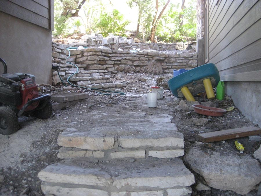 Concrete Patio Planters Makeover Austin Outdoor Living