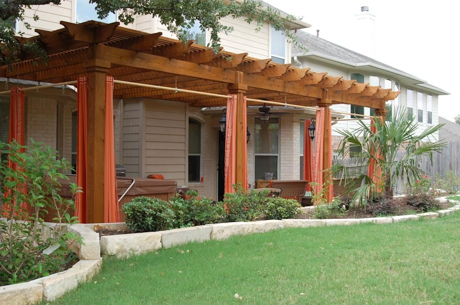 Pergola Privacy Curtains - Austin Outdoor Living