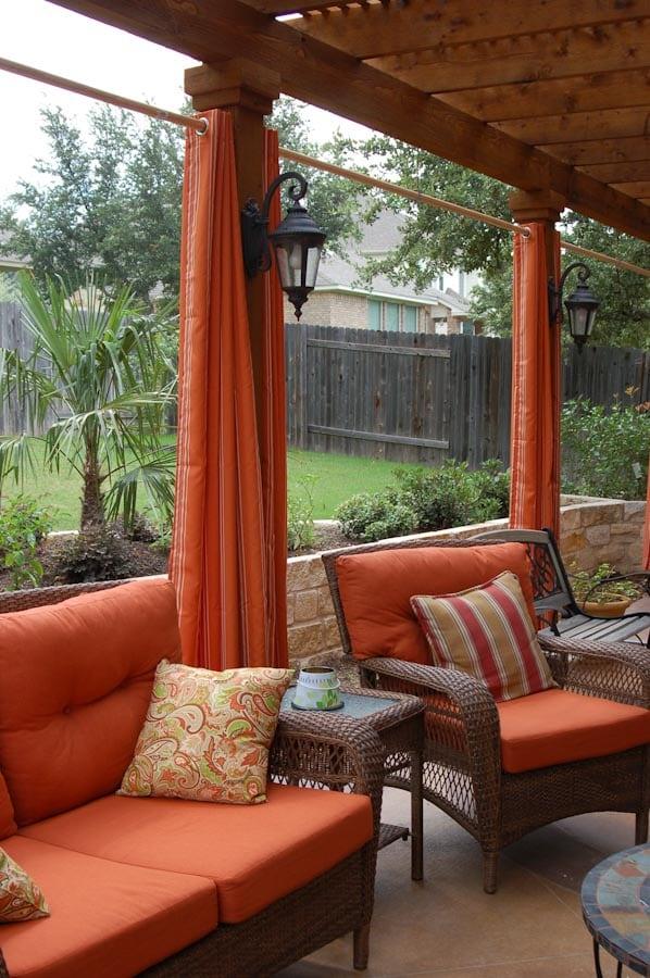 Pergola Privacy Curtains Austin Outdoor Living