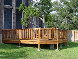 Elevated Deck with a Tree Through It