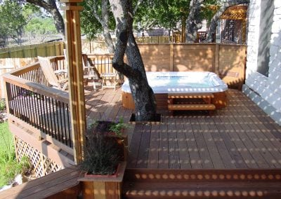 Custom Deck with Hot Tub