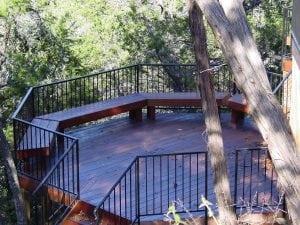 Dark Wood Round Deck