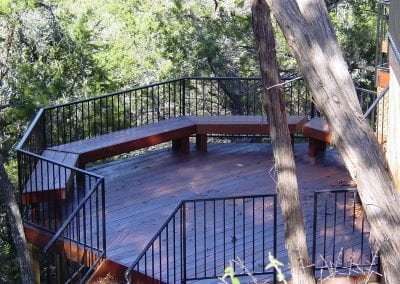 Dark Wood Round Deck