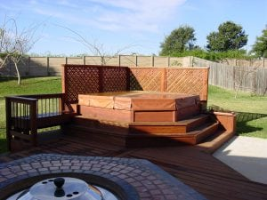 Deck with Raised Hot Tub