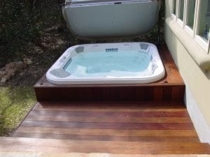 Deck with Hot Tub in it