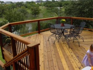 Deck Overlooking a Pond