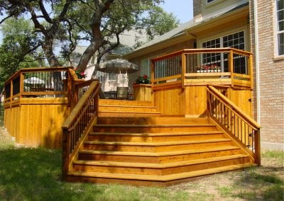 Elevated Deck with Stairs