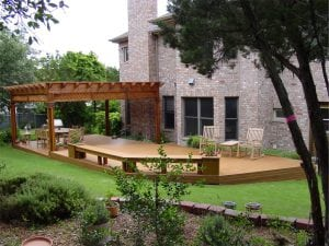 Deck with Pergola and Bench