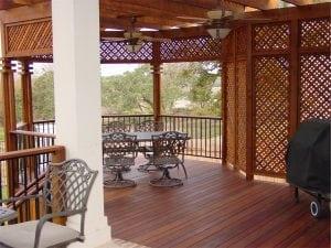 Deck with Pergola and Lattice Walls