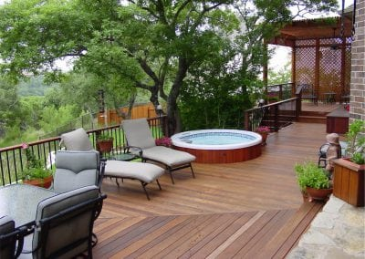 Deck with Hot Tub and Pergola