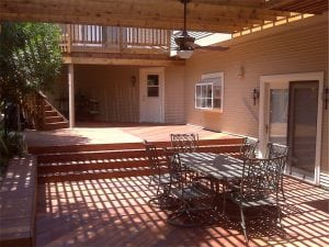 Deck with Slotted Cover