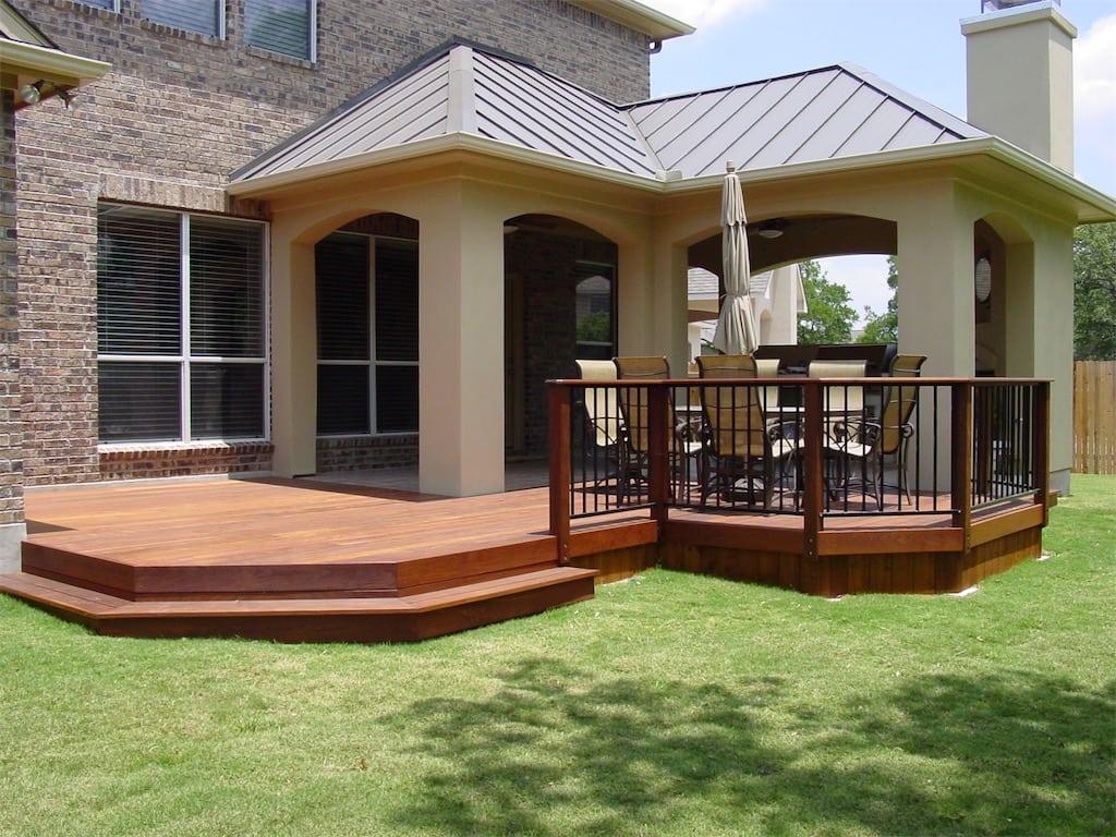 Austin outdoor living group decks pergolas porches for Covered decks