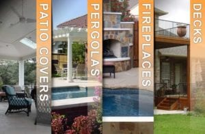 patio covers pergolas fireplaces and decks collage