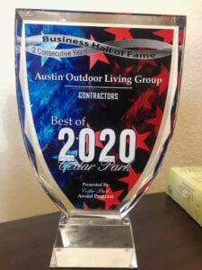 Austin Outdoor Living Group Best of 2020 Cedar Park